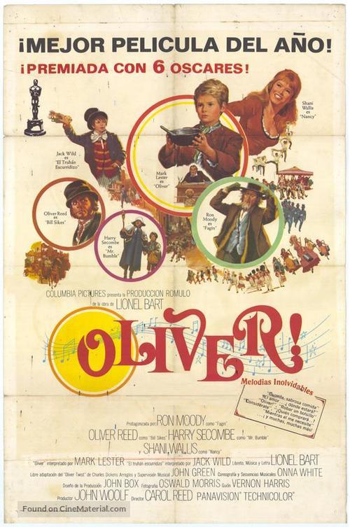 Oliver! - Spanish Movie Poster