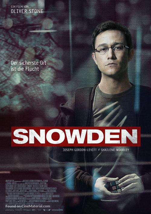 Snowden - German Movie Poster
