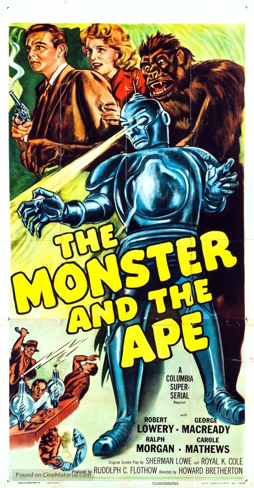 The Monster and the Ape - Movie Poster