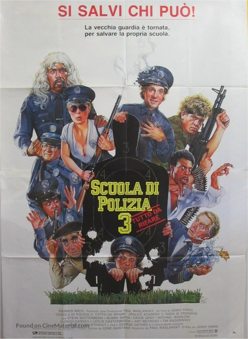Police Academy 3: Back in Training - Italian Movie Poster