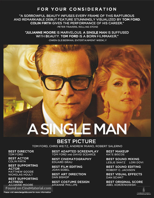 A Single Man - For your consideration movie poster