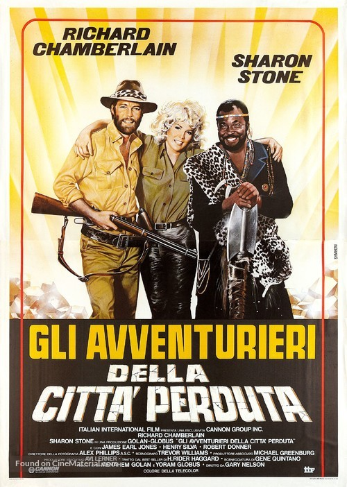 Allan Quatermain and the Lost City of Gold - Italian Movie Poster