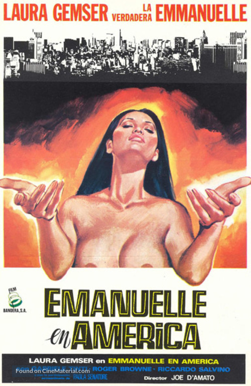 Emanuelle In America - Spanish Movie Poster