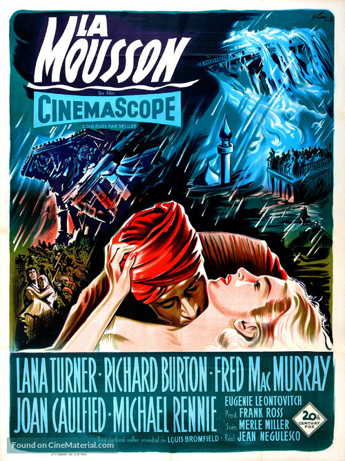 The Rains of Ranchipur - French Movie Poster