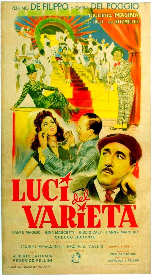 Luci del varietà - Italian Movie Poster