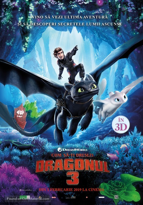 How to Train Your Dragon: The Hidden World - Romanian Movie Poster