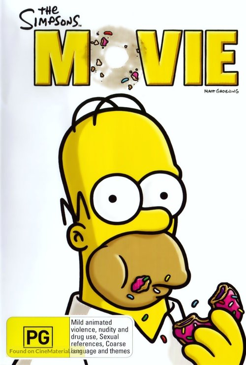 The Simpsons Movie - Australian Movie Cover