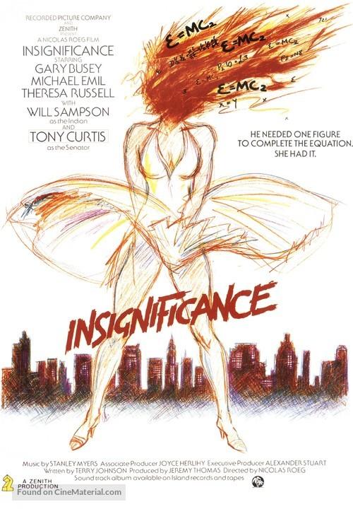 Insignificance - British Movie Poster