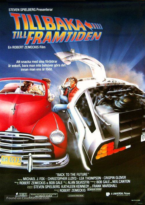 Back to the Future - Swedish Movie Poster