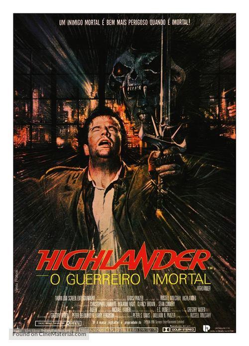 Highlander - Brazilian Movie Poster