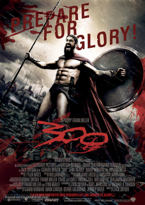 300 - Norwegian Movie Poster