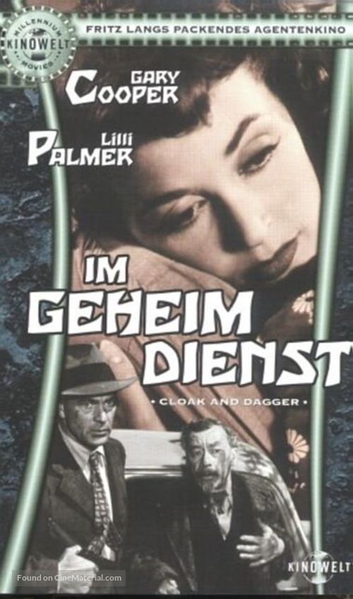 Cloak and Dagger - German VHS movie cover