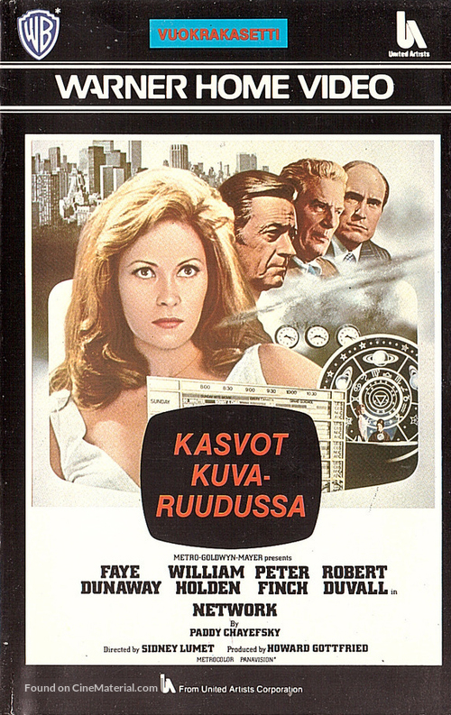 Network - Finnish VHS movie cover