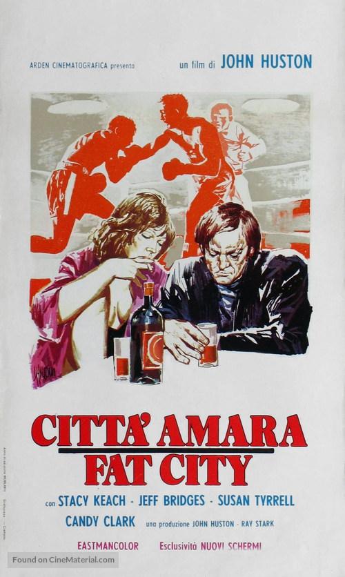 Fat City - Italian Movie Poster