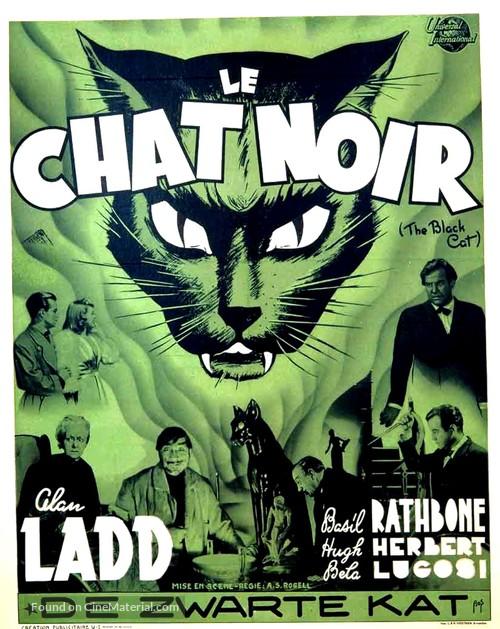 The Black Cat - Belgian Movie Poster