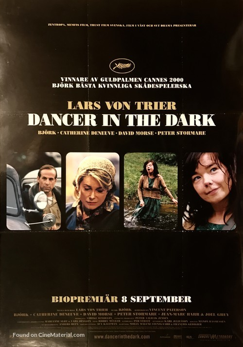 Dancer In The Dark 2000 Swedish Movie Poster