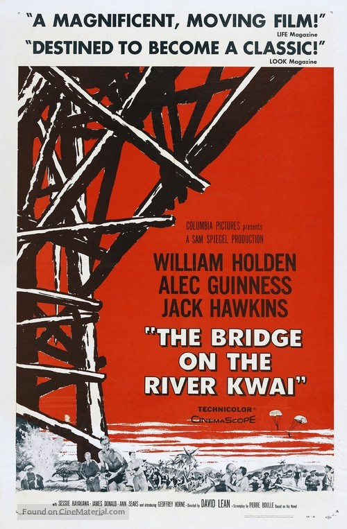 The Bridge on the River Kwai - Movie Poster