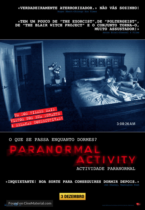 Paranormal Activity - Portuguese Movie Poster