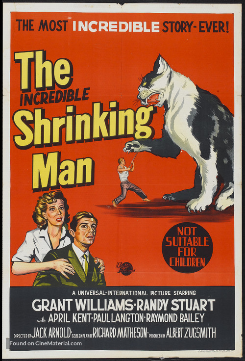 The Incredible Shrinking Man - Australian Movie Poster