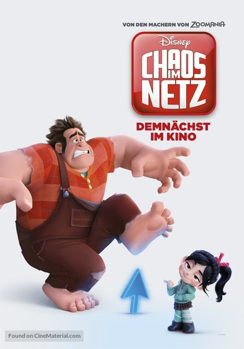 Ralph Breaks the Internet - German Movie Poster