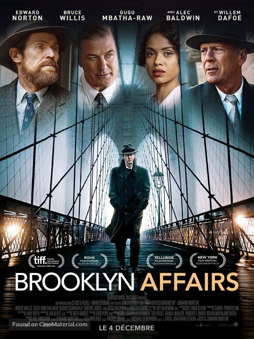 Motherless Brooklyn - French Movie Poster