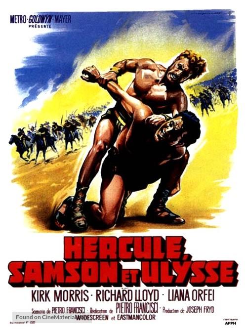 Ercole sfida Sansone - French Movie Poster