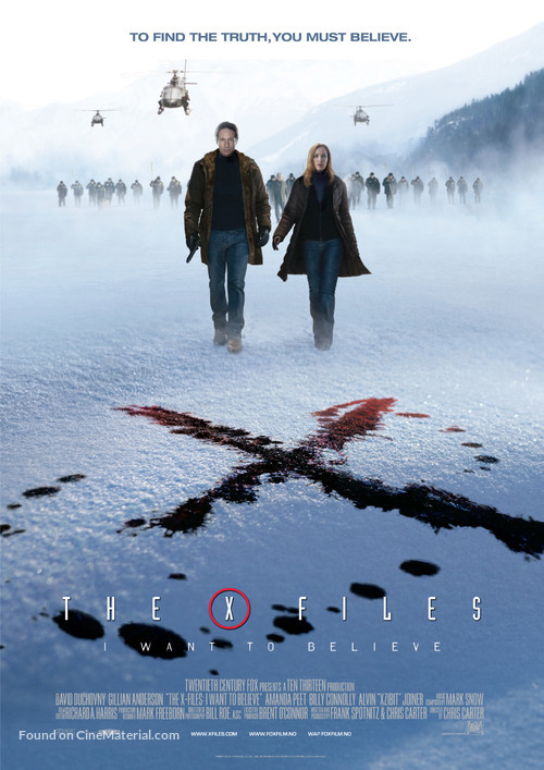 The X Files: I Want to Believe - Norwegian Movie Poster
