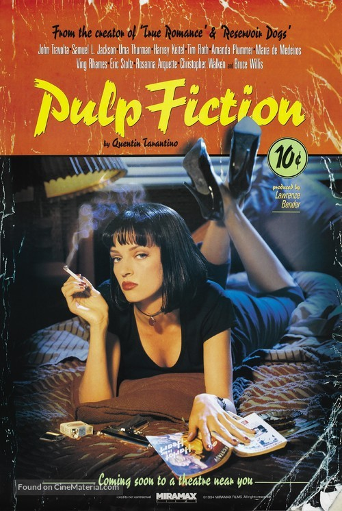 Pulp Fiction - Advance poster