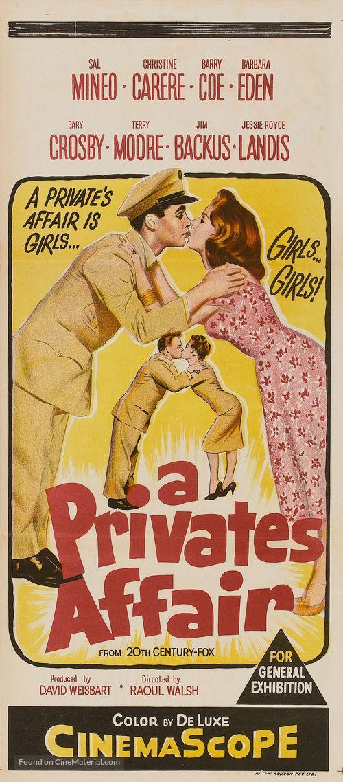 A Private's Affair - Australian Movie Poster