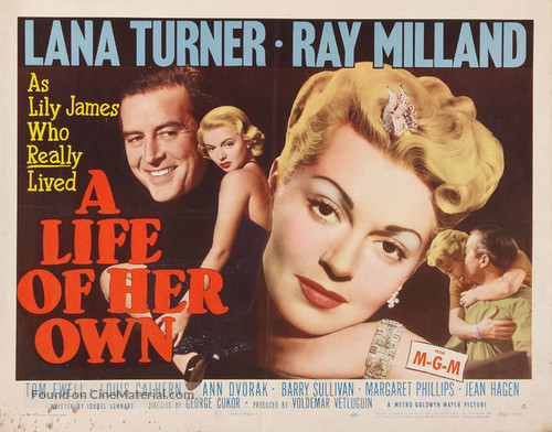 A Life of Her Own - Movie Poster