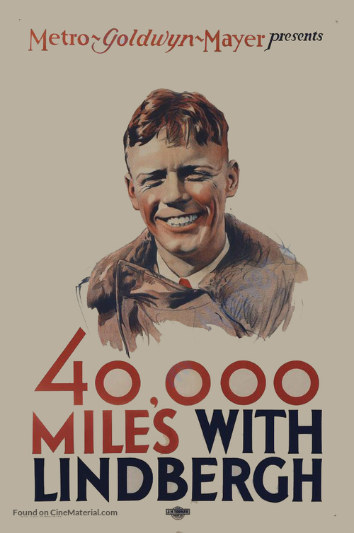 40,000 Miles with Lindbergh - Movie Poster