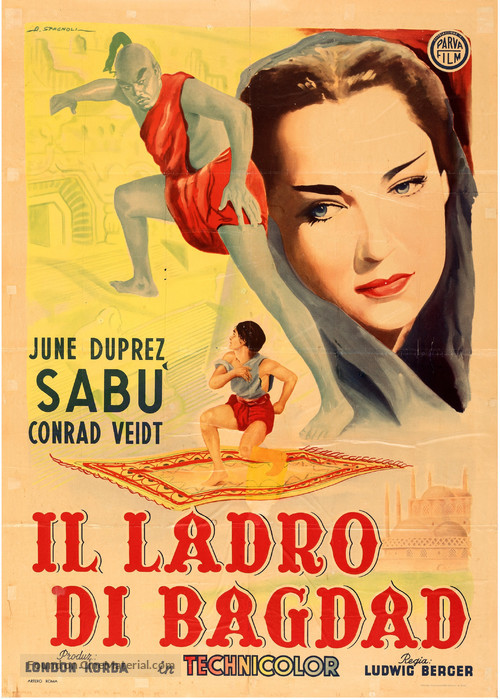 The Thief of Bagdad - Italian Movie Poster