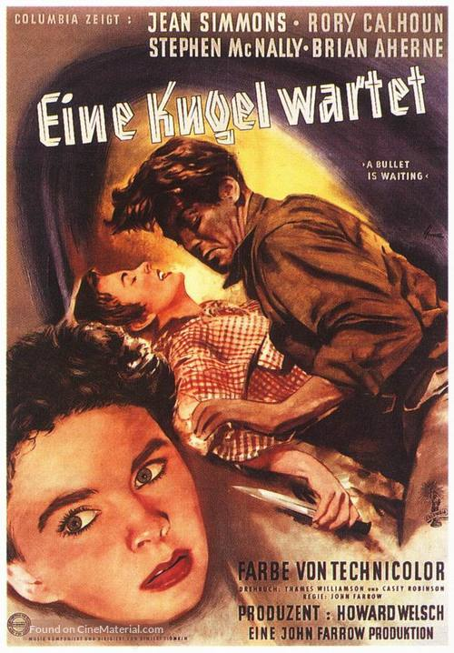 A Bullet Is Waiting - German Movie Poster