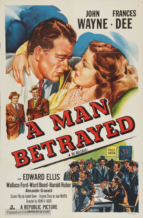 A Man Betrayed - Re-release movie poster