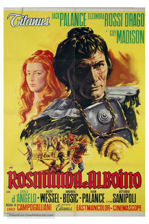 Rosmunda e Alboino - Italian Movie Poster
