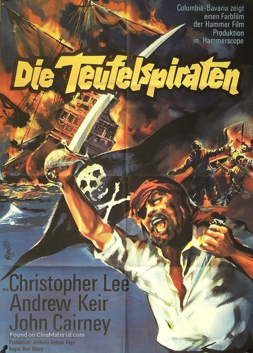 The Devil-Ship Pirates - German Movie Poster