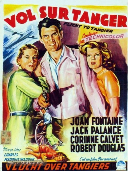 Flight to Tangier - Belgian Movie Poster