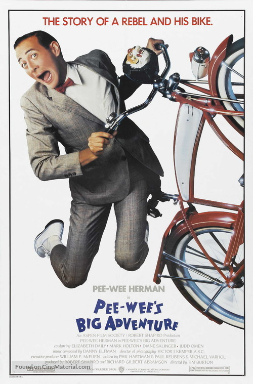 Pee-wee's Big Adventure - Movie Poster