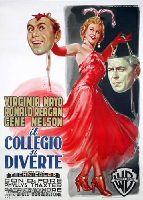 She's Working Her Way Through College - Italian Movie Poster