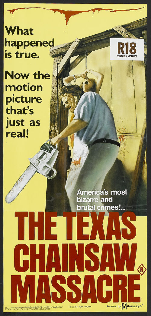 The Texas Chain Saw Massacre - Australian Movie Poster