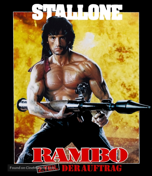 Rambo: First Blood Part II - German Movie Cover