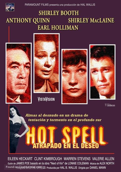 Hot Spell (1958) Spanish movie poster