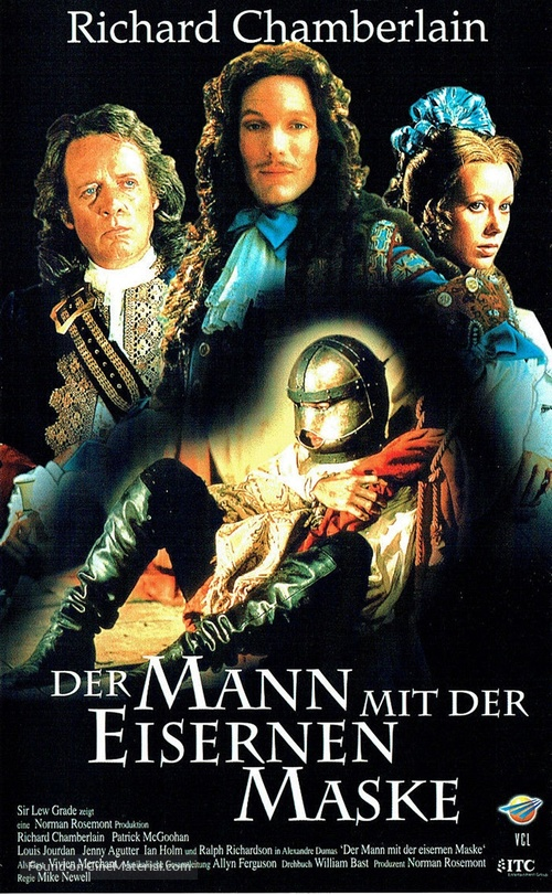The Man in the Iron Mask - German VHS movie cover