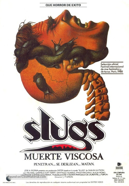 Slugs, muerte viscosa - Spanish Movie Poster