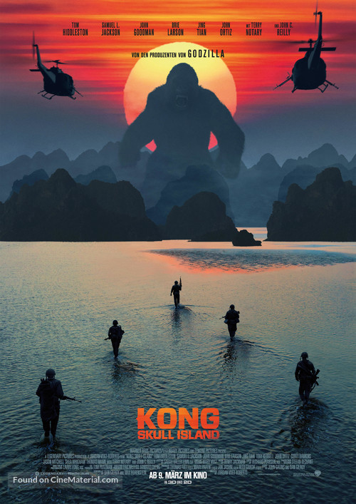 Kong: Skull Island - German Movie Poster