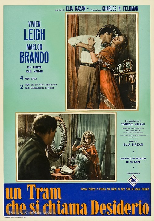 A Streetcar Named Desire - Italian Movie Poster