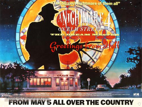 A Nightmare on Elm Street 4: The Dream Master - British Movie Poster