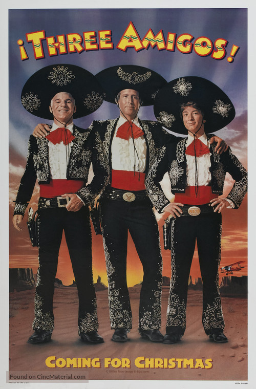 Three Amigos! - Movie Poster
