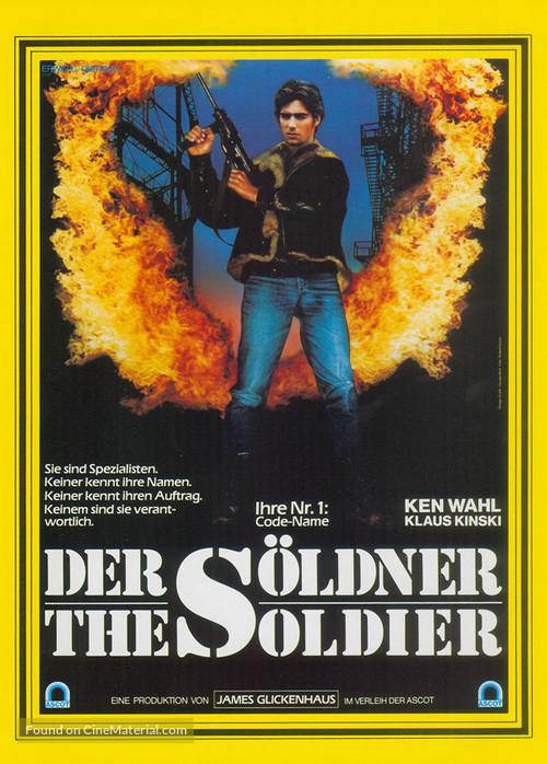 The Soldier - German Movie Poster