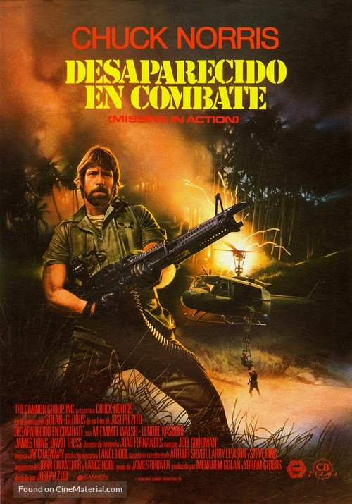 Missing in Action - Spanish Movie Poster